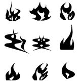 Vector silhouette tattoo. Royalty Free Stock Image