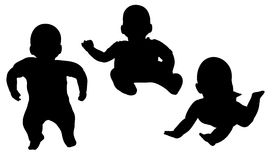 Vector silhouette of a toddler. Stock Photography