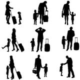 Vector silhouette of travel. Royalty Free Stock Images
