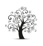 Vector silhouette tree Royalty Free Stock Photography