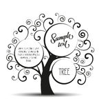 Vector silhouette tree royalty free illustration
