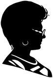 Vector silhouette of woman Stock Photos