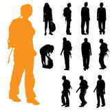 Vector silhouette of woman. Royalty Free Stock Photos