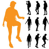Vector silhouette of woman. Stock Image