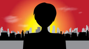 Vector silhouette of woman. royalty free illustration