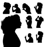 Vector silhouette of woman. Royalty Free Stock Image
