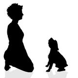 Vector silhouette of a woman. Royalty Free Stock Photos