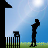 Vector silhouette of woman. Stock Photo