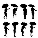 Vector silhouette of a woman Royalty Free Stock Photo