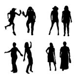 Vector silhouette of a woman. Stock Photos