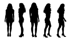 Vector silhouette of a woman. Vector silhouette of a woman on a white background vector illustration