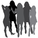 Vector silhouette of a woman. Vector silhouette of a woman on a white background stock illustration