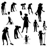 Vector silhouette of the woman. Royalty Free Stock Photo