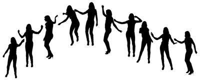 Vector silhouette of a woman. Vector silhouette of a woman who dance on a white background vector illustration