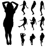 Vector silhouette of a woman. Royalty Free Stock Image