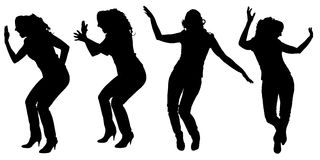Vector silhouette of a woman. Vector silhouette of a woman who dances on a white background vector illustration