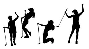 Female Golfer Silhouette Stock Illustrations 168 Female Golfer