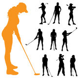 Vector silhouette of a woman. Royalty Free Stock Photography