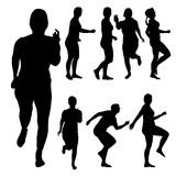 Vector silhouette of a woman. Stock Photo