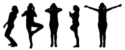 Vector silhouette of a woman, Royalty Free Stock Image