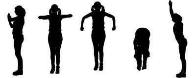 Vector silhouette of a woman, Royalty Free Stock Photography