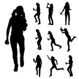 Vector silhouette of a woman. Royalty Free Stock Photo