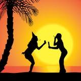 Vector silhouette women. Stock Photos