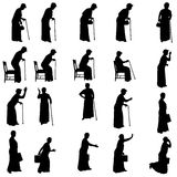 Vector silhouette of women. Royalty Free Stock Image