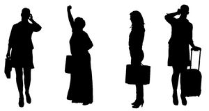 Vector silhouette of women. Stock Photos