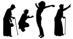 Vector silhouette of women. Royalty Free Stock Photo