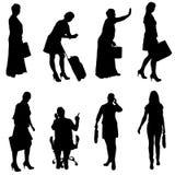 Vector silhouette of women. Stock Photos