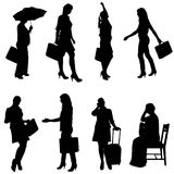 Vector silhouette of women. Stock Photo