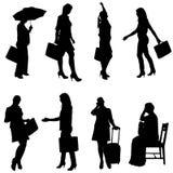 Vector silhouette of women. Stock Photo