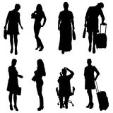 Vector silhouette of women. Stock Images