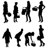 Vector silhouette of women. Royalty Free Stock Images