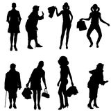 Vector silhouette of women. Stock Photography