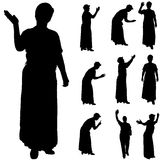 Vector silhouette of women. Vector silhouette of women on a white background Stock Image