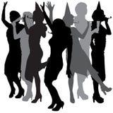 Vector silhouette of women. vector illustration