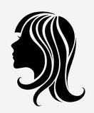 Vector silhouette of a young girl Stock Photo