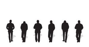Vector silhouetten van mensen Stock Fotografie