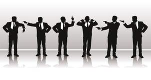 Vector silhouetten van zaken Stock Foto's