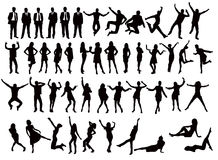 Vector silhouettes Royalty Free Stock Images
