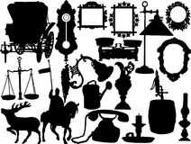 Vector silhouettes. Of the retro objects vector illustration