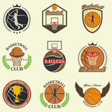 Vector silhouettes of basketball Royalty Free Stock Image