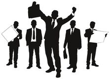 Vector silhouettes of business. People Stock Images