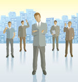 Vector silhouettes of business people Royalty Free Stock Photography