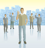 Vector silhouettes of business people Stock Photography