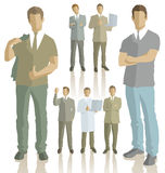Vector silhouettes of business people Stock Image