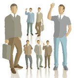 Vector silhouettes of business people Royalty Free Stock Images