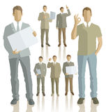 Vector silhouettes of business people Stock Photo